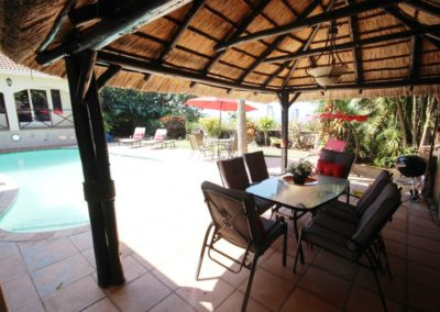 Thatch gazebo with braai area