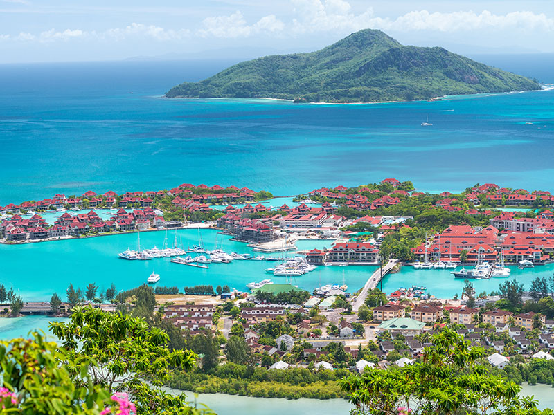 Views On Eden Island In The Seychelles