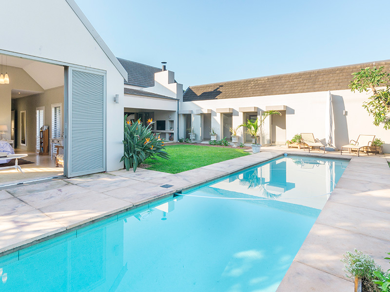 Bridelia House Outdoor Living and Pool Area